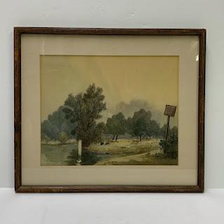 Frank Galsworthy Signed Watercolor Landscape