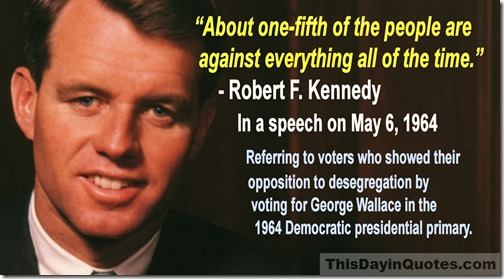 robert-f-kennedy one-fifth quote May 1964 WM
