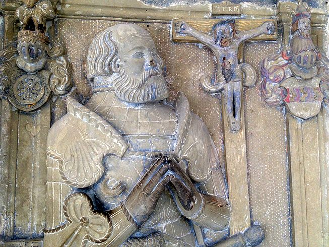 Grabplatte von Götz von Berlichingen - Detail