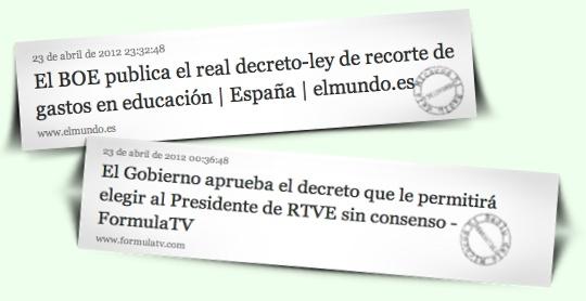Notícies El Mundo i Formula TV