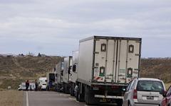 Blockade bei Caleta Olivia