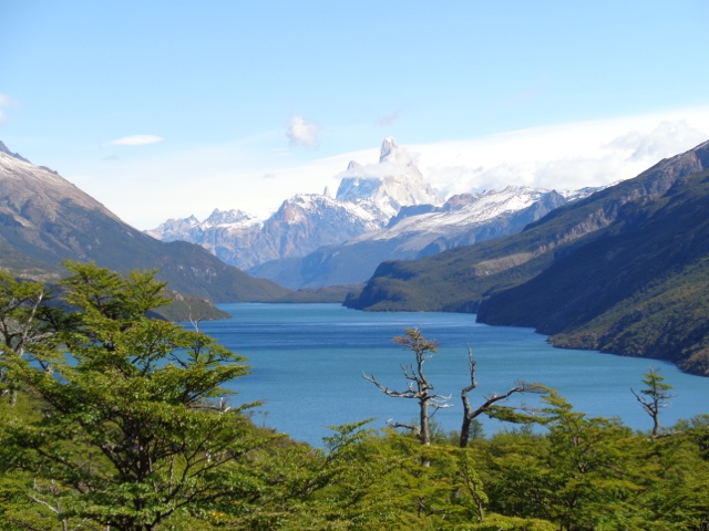 At the end of the trail you get to see this: Lago del Desierto with the Fitz Roy.