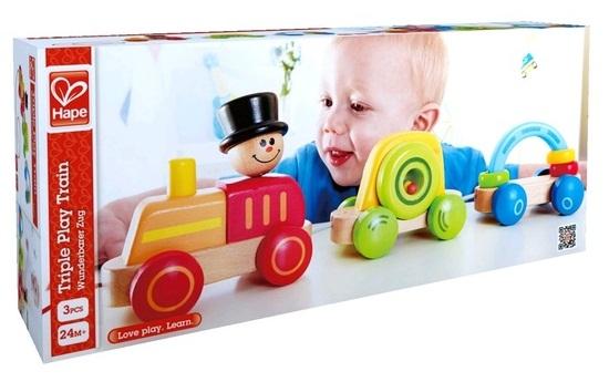 Tàu gỗ cho bé Triple Play Train Hape 3 toa