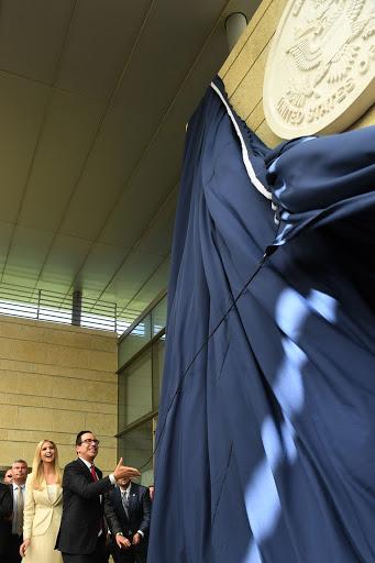 ארוע פתיחת שגרירות ארצות הברית בירושליםהסרת הלוט על ידי שר האוצר סטיב מנוצ'ין ובתו של הנשיא איוונקה טראמפPhoto by Kobi Gideon / GPO