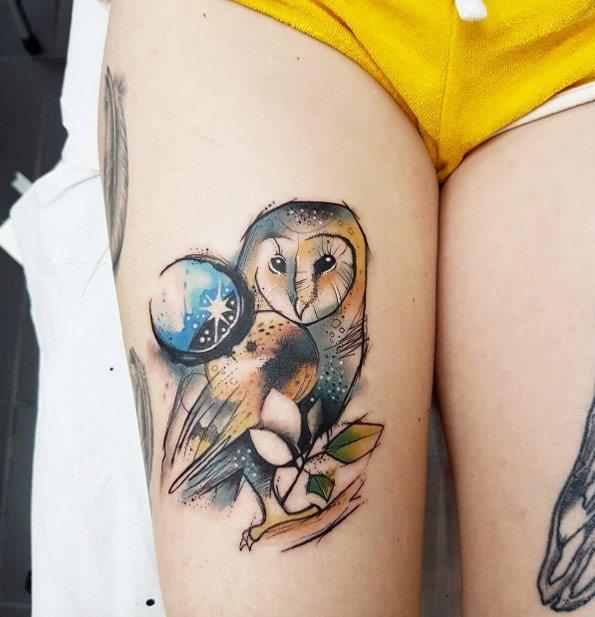 o_ldico_aquarela_tatuagem_de_coruja