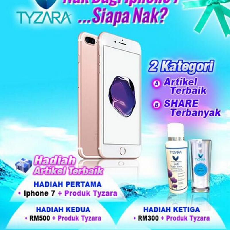 Contest TYZARA 2017 : Dan pemenang Iphone 7 ialah...