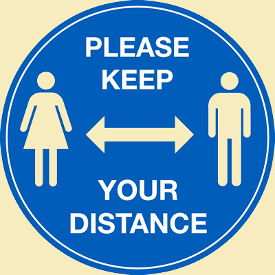 Coronavirus Pandemic: Please Keep Your Distance!