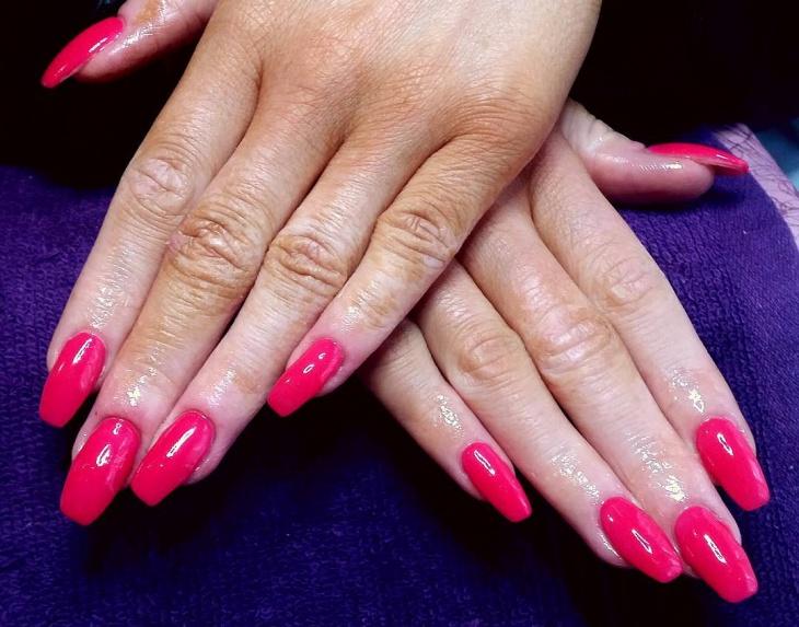 Black And Pink Gel Nail Designs Papillon Day Spa