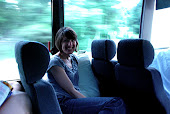 Julie on the bus