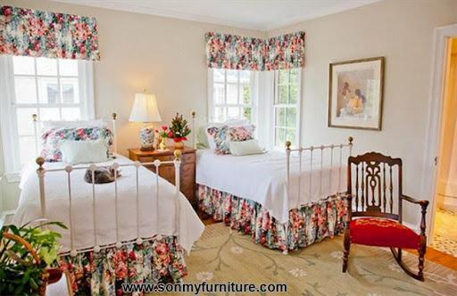 Rộn ràng hoa lá trong phòng ngủ mùa xuân hè_nội thất phòng ngủ-2