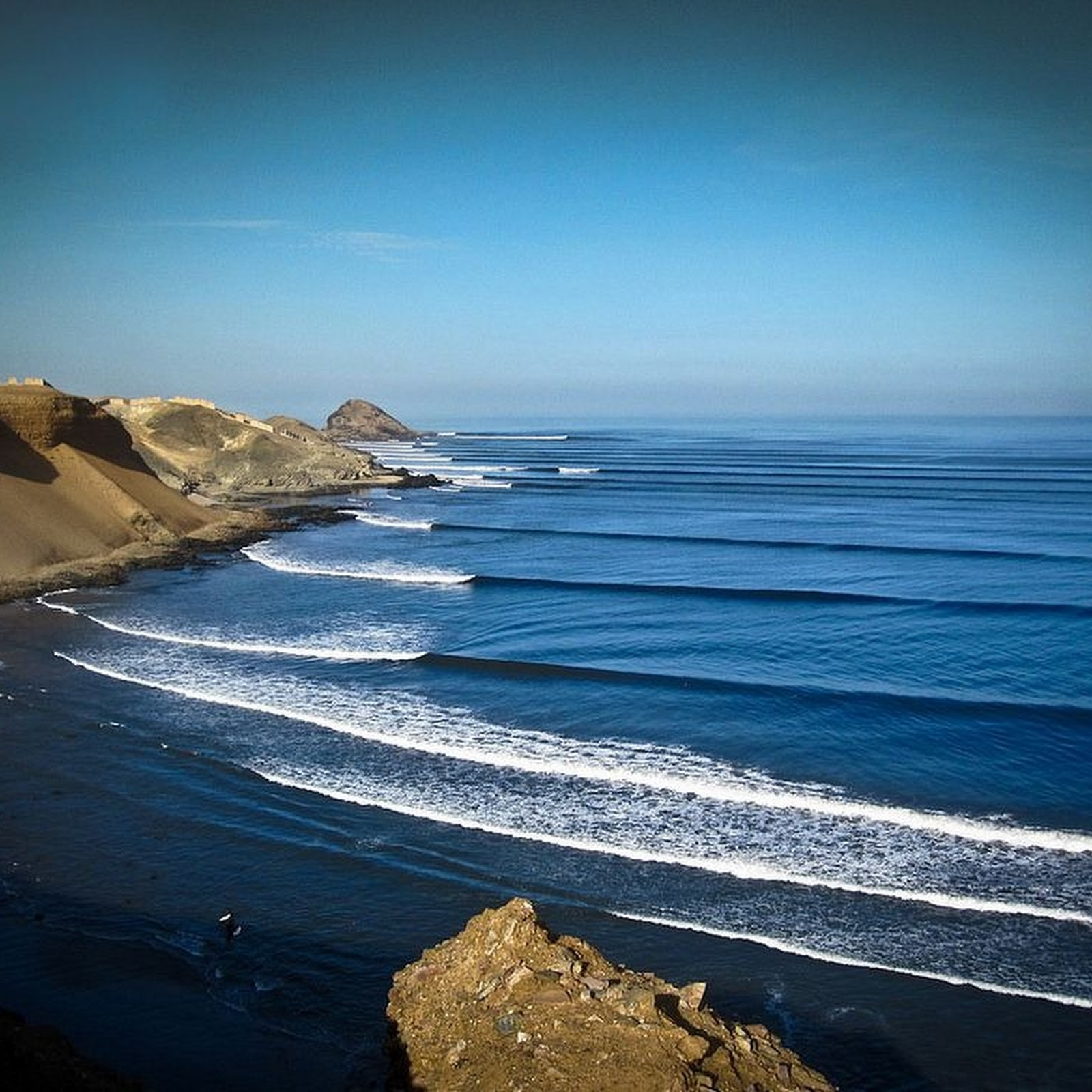 The World's Longest Surfing Wave at Chicama, Peru