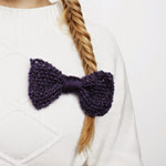 Knit Bow Brooch