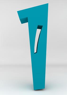 lettre 3D homme joker turquoise - 1 - images libres de droit