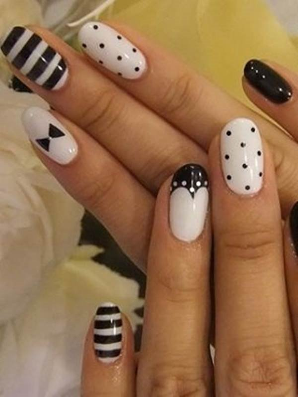 Top 100 Black And White Nail Designs 2019 Our Nail