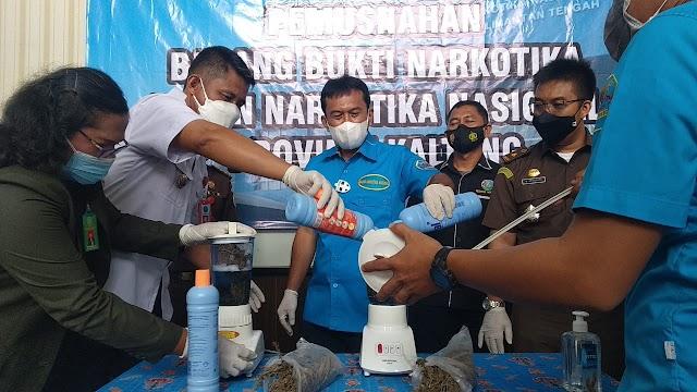 BNNP Kalteng Antisipasi Potensi Meningkatnya Peredaran Narkoba