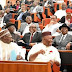 Lmao: Senators, Almost Rolling on the Floor While Laughing Hard as Buhari's Letter has 'TRANSMISSION' in it [Photos]