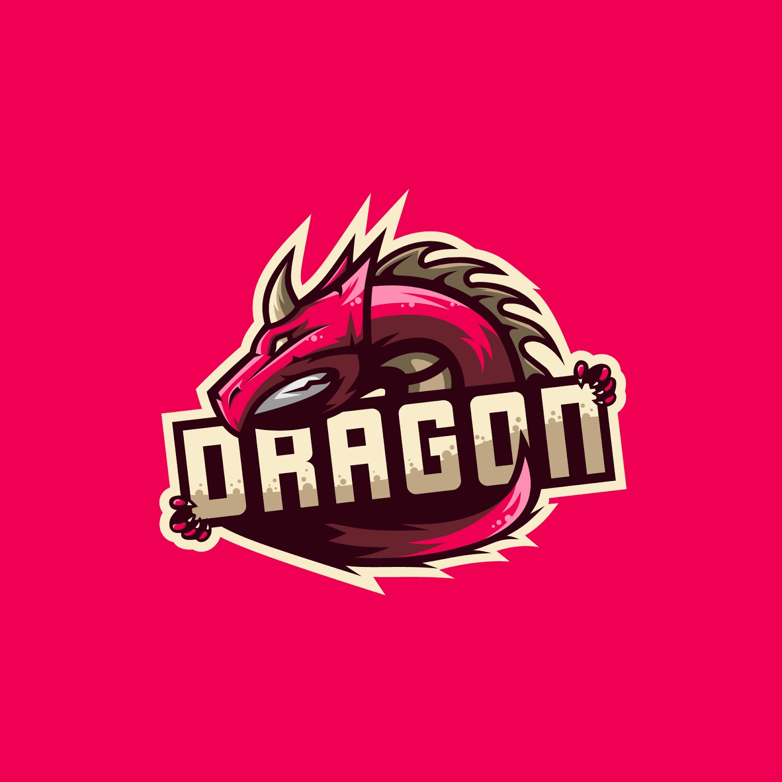 Awesome Dragon Logo Illustration Free Download Vector CDR, AI, EPS and PNG Formats