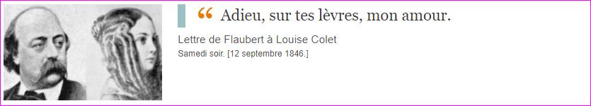 Lettre de Flaubert à Louise Colet