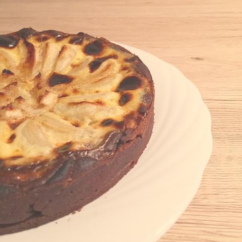 Crostata al cacao con flan al rum e pere @monsieurtatin.blogspot.it