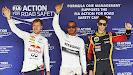 Hungaroring top 3 qualifiers: 1. Hamilton 2. Vettel 3. Grosjean