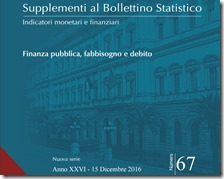 Supplementi al Bollettino Statistico. Dicembre 2016