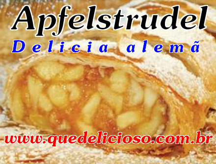 Apfelstrudel Alemão