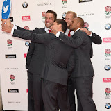 OIC - ENTSIMAGES.COM - George Ford, Calum Clark, James Haskell, Ben Youngs and Jonathan Joseph at the  Carry Them Home - rugby dinner (Suits provide by Eden Park) at the Grosvenor House London 5th August 2015 Photo Mobis Photos/OIC 0203 174 1069