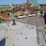 Widok z wieży Św. Anny na Pl. Zamkowy