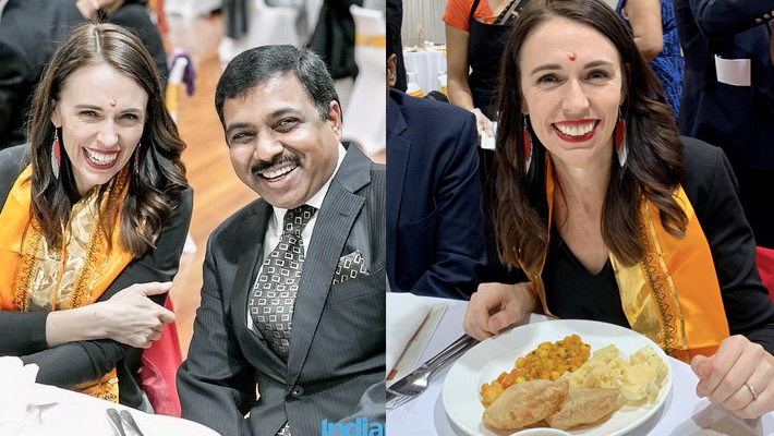 New Zealand Prime Minister visits Hindu temple relishes Indian food KPP