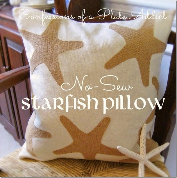 CONFESSIONS OF A PLATE ADDICT No-Sew Starfish Pillow