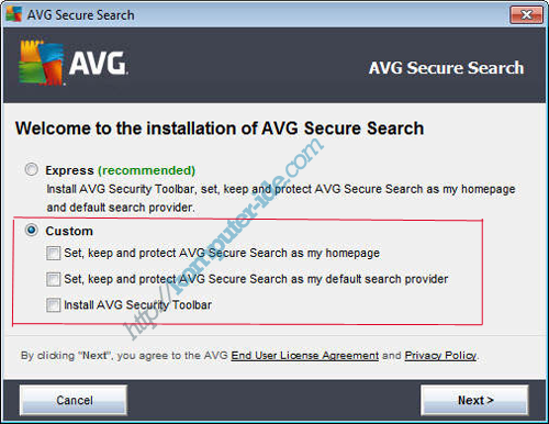 cara install avg custom Cara Setting Firefox untuk Merubah Search Engine/Mesin Pencari Default