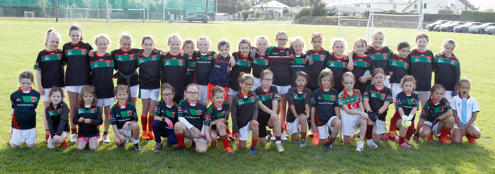 Garrycastle Ladies players from the Under 7, Under 8, Under 9 and Under 10 squad pictured ahead of Round 2 of the Street Leagues on Sunday morning.