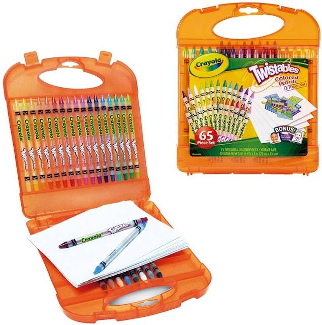 Bộ 25 bút chì màu và 40 tờ giấy vẽ Crayola Twistables Colored Pencils