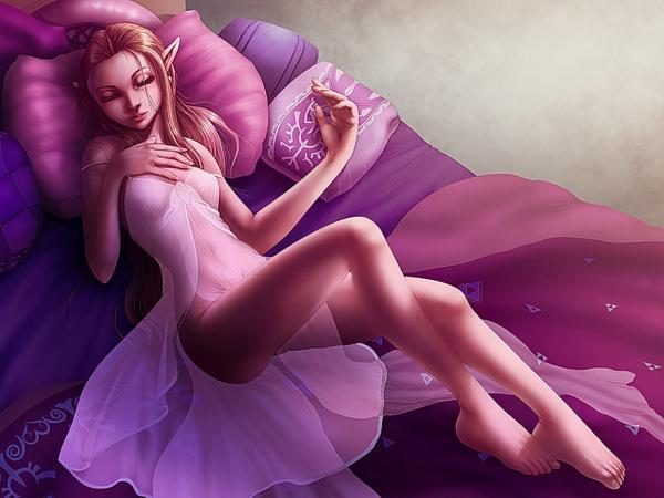 Elf Sleeping In The Flower, Elven Girls 2