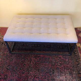Upholstered Cast Iron Ottoman