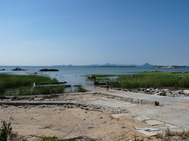 """C est d ici que le futur pont entre Jinmen et la Chine """"arriverait"""",dans quelques petites années"""