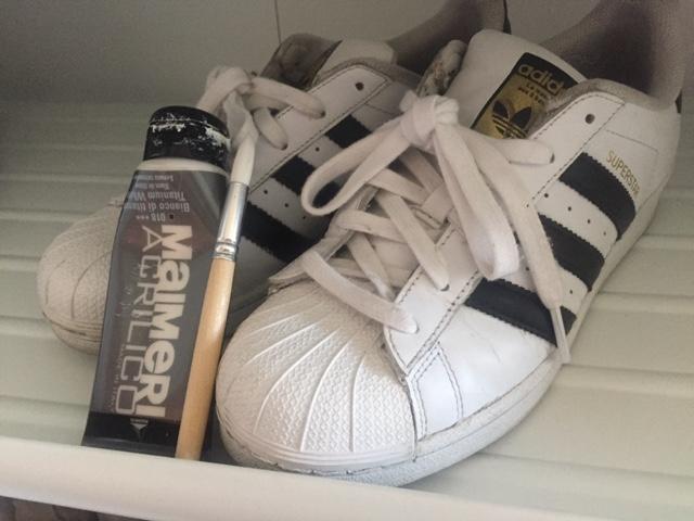 scarpe adidas ingiallite