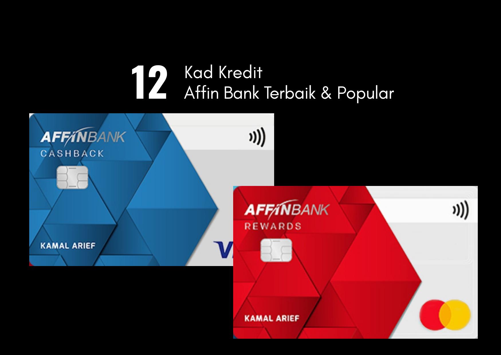 10 Kad Kredit Affin Bank Terbaik & Popular