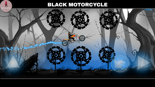Black motorcycle