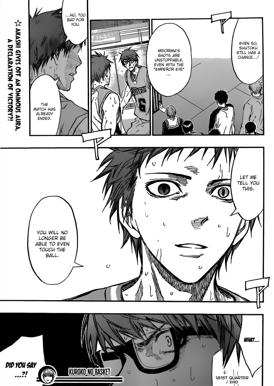 Kuroko no Basket Manga Chapter 181 - Image 19