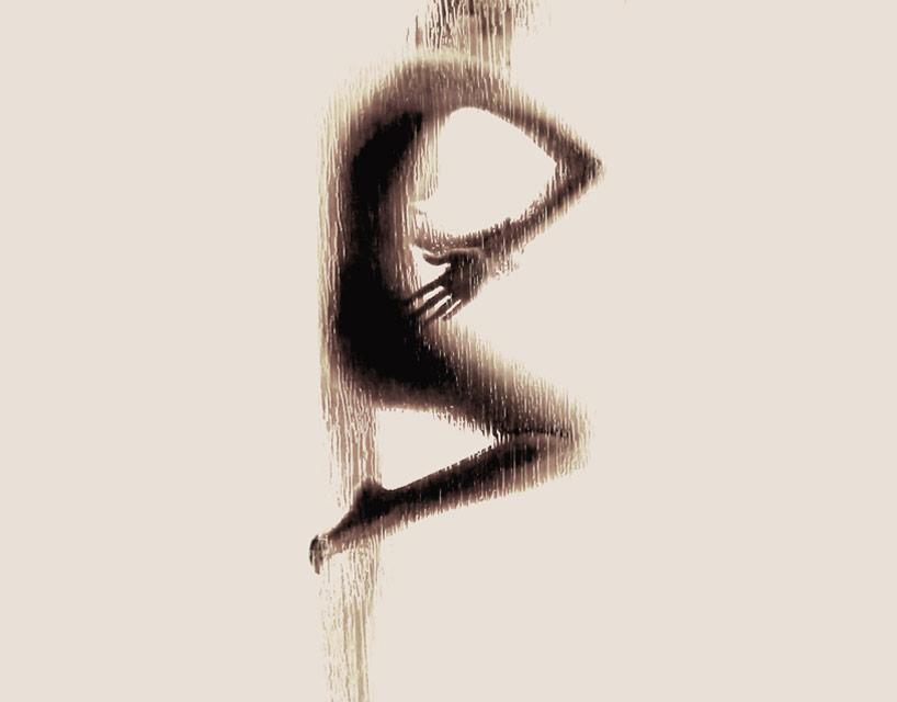 *女性裸體字母剪影:希臘藝術家Anastasia Mastrakouli 解剖人體視覺奧秘! 3
