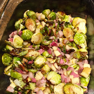 Brussel Sprouts With Pancetta, Shallots, Apple And Maple Syrup
