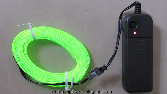 Led wire aceso