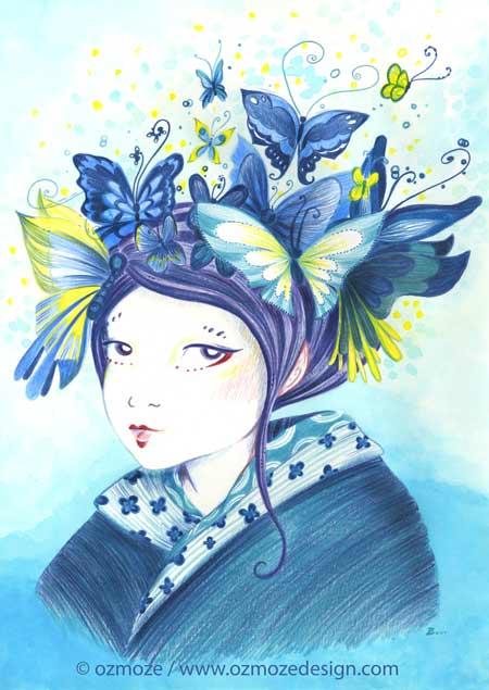 Geisha butterfly