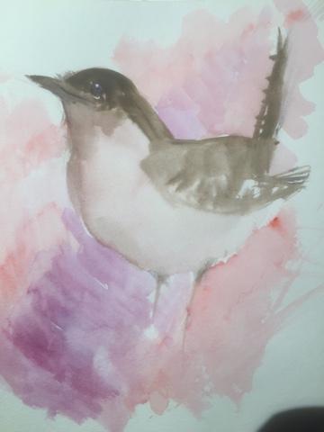 Watercolor bird by Artmagenta