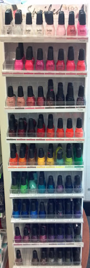 Rainbow of nail colors