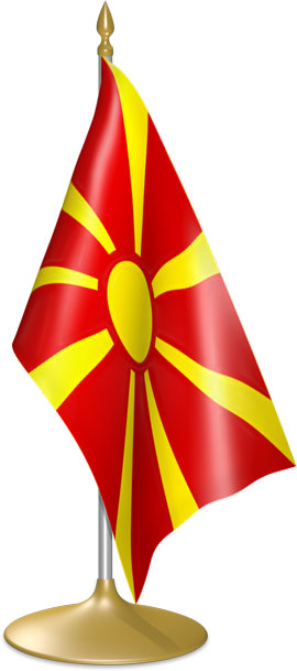 Macedonian table flags - desk flags