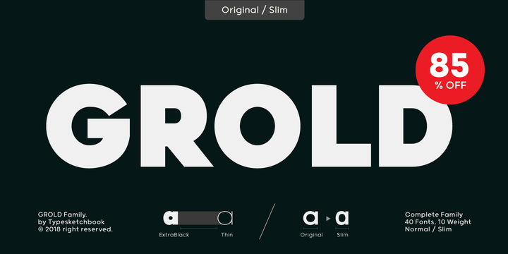 Download Grold Font Family From Typesketchbook