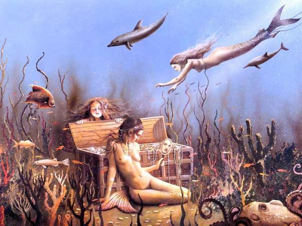 Mermaid And Mirror, Undines