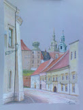 Kraków - ul. Kanonicza, kredka, karton